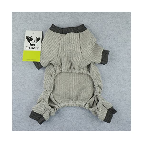 Fitwarm Lightweight Knitted Comfy Pet Clothes for Dog Pajamas PJS Coat Jumpsuit Grey Large Click on image for further info. 5