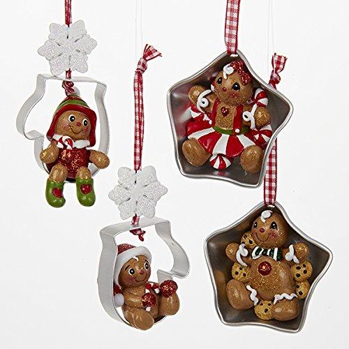 Kurt Adler Gingerbread Christmas Ornaments product image