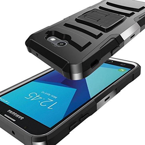 TurtleArmor   Compatible for Samsung Galaxy J7 2017 Case   J7 Prime   J7 Sky Pro [Hyper Shock] Hybrid Dual Layer Armor Holster Belt Clip Case Kickstand - Lake Fishing by TurtleArmor (Image #4)