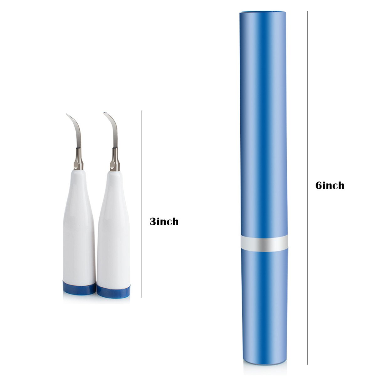 Teeth Polisher Teeth Cleaner,Fencia Teeth Tartar Plaque Stain Remover Dental Calculus Cleaner High Frequency Vibration Sonic Toothbrush 2 in 1 by Fencia (Image #7)