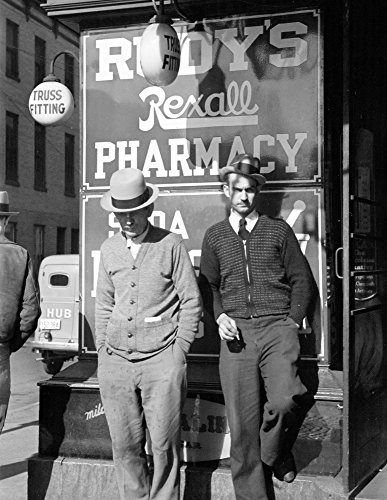 1937 Men in Front of Store, Hagerstown, MD Vintage Photograph 8.5