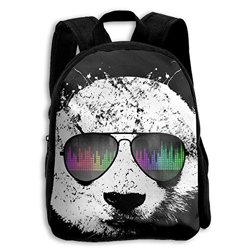 Cool Radio Musical Panda Kid Boys Girls Toddler Pre School Backpack Bags Lightweight