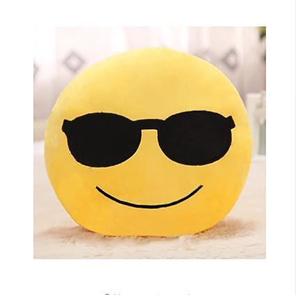 PENVEAT Emoji Almohada Gafas de Sol 30 cm Amarillo Forma ...