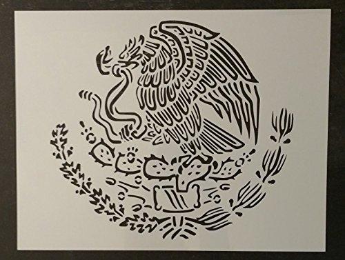 TNS STORE Mexico Mexican Flag Emblem Eagle 11'' x 8.5'' Custom Stencil by Stencil