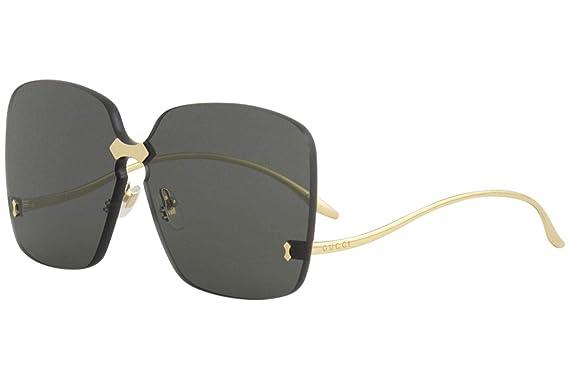 6284c8198c9 Amazon.com  Gucci GG0352S Sunglasses 001 Gold   Grey Lens 99 mm ...