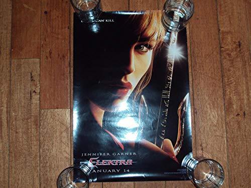 2004 Poster Calendar - Elecktra Movie Poster Jennifer Gardner 2004 Mint 13.5 X 20
