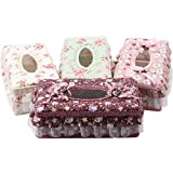 Vanki 1 PCS Princess Style Lace Tissue Holder Box Cover for Home Office Car, Pink