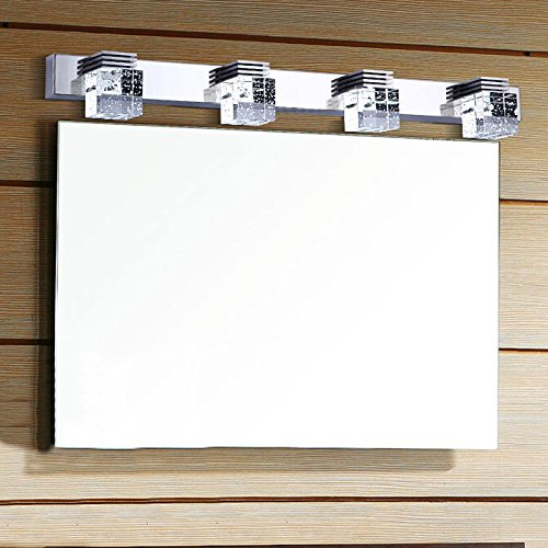 low-cost 8067 Modern 12w Cool White K9 Crystal 650lm 4-light Led Bathroom Lamp Picture Wall Lamps Cabinet Mirror Lamp