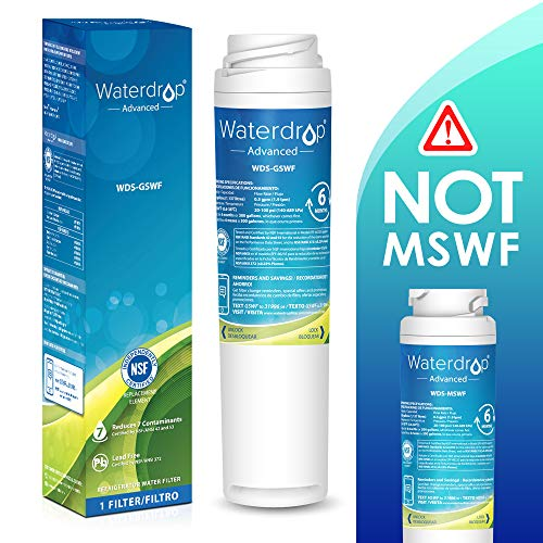 Waterdrop NSF 53&42 Certified Refrigerator Water Filter, Compatible with GE GSWF SmartWater 238C2334P001, Kenmore 46-9914, 469914, 9914, Advanced, Pack of 1