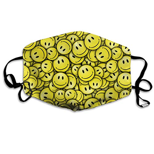 SGHGSAxbh Smiley Face Pattern Face Mask Dust Mask Anti Pollution Face Mask Washable Cotton Mouth Mask Men and Women for All Ages