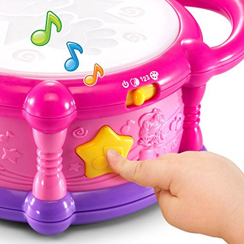 51gGKEgwJGL - LeapFrog Learn & Groove Color Play Drum Bilingual, Pink (Amazon Exclusive)