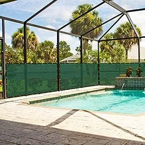 Custpromo 6'x 50de patio piscina porche Tejido de malla valla de privacidad resistente a la intemperie