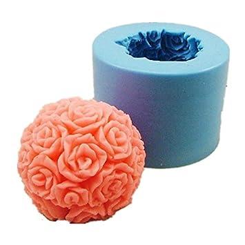 Allforhome moldes de jabón o vela de rosa, silicona, para hacer a mano: Amazon.es: Hogar
