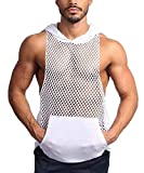 COOFANDY Mens Workout Tank Fishnet Muscle See