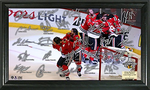 The Highland Mint NHL Chicago Blackhawks 2015 Stanley Cup Champions Celebration Signature Rink, 22'' x 15'' x 4'', Black by The Highland Mint