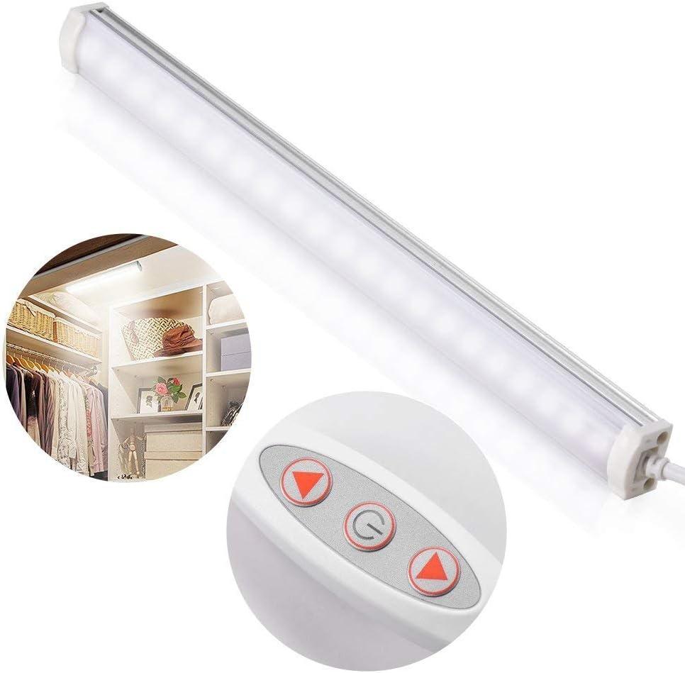 LED Closet Light, Zecti 4W 21 LED Dimmable 10-Level Brightness USB Strip Bar Light for TV Monitor Backlight Desk Photography Stick-on Anywhere 5500k