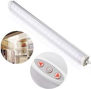 Zecti 4W Dimmable 10-Level Brightness USB Strip Bar Light for TV Monitor Backlight Closet Cabinet Shelf Desk Photography Stick-on Anywhere 5500k