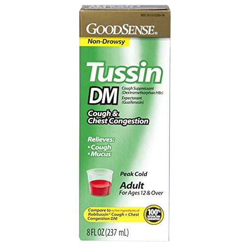 GoodSense Tussin DM Cough and Chest Congestion , 8 Fluid (Tussin Cough Syrup)