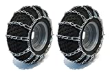 PAIR 2 Link TIRE CHAINS 24x12-12 for Garden Tractors/Riders/Snowblower by