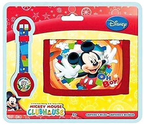 Mickey y sus amigos - Set de regalo reloj + cartera Mickey Disney: Amazon.es: Equipaje