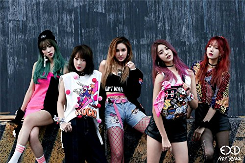 Fanstown KPOP EXID kop A3 Size 28cm x 42cm Fanmade all stars super support + EXO Lomo Card