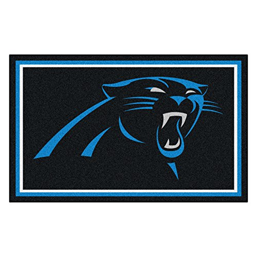 Face Panther (Fanmats NFL Carolina Panthers Nylon Face 4X6 Plush Rug)
