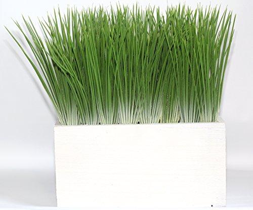 Artificial Wheat Grass In White Pot 8 1 2in L X 4 3 4in W X 9in H