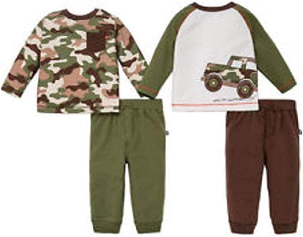 Little Me Infant Toddler Boys 4 Piece Day Care Play Set Brown//Green Camo