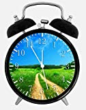 Country Road Alarm Desk Clock 3.75'' Home Office Decor Y119 Nice For Gifts
