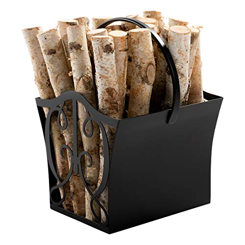 DOEWORKS Fireplace Log Carrier Decorative Fire Wood Holder Firewood Basket for Indoor/Outdoor Fire Place