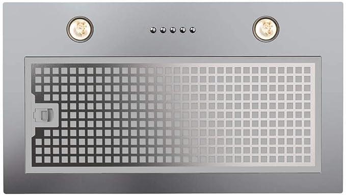 CATA G 50 LUX X 400 m³/h Encastrada Acero inoxidable C - Campana (400 m³/h, Canalizado/Recirculación, E, A, D, 62 dB): Amazon.es: Grandes electrodomésticos