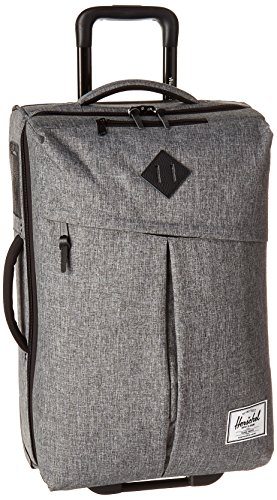 Herschel Supply Co. Campaign Luggage, Raven Crosshatch/Black Pebbled Leather by Herschel Supply Co.