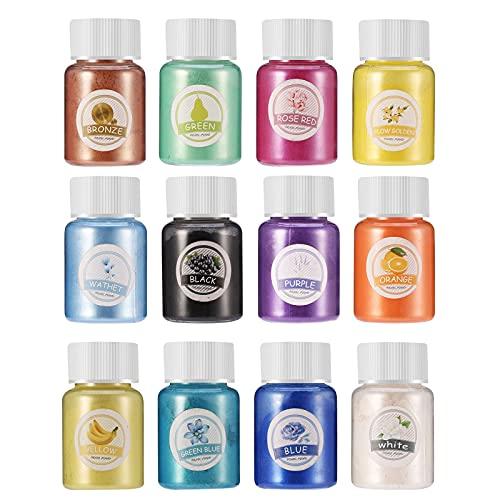 Polvo de Mica 12 colores 10g c/u para resina/jabon /vela