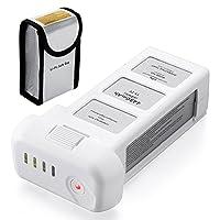 Powerextra 15.2V 4480mAh LiPo Reemplazo inteligente de la batería + Bolsa para batería segura para DJI Phantom 3 SE, Profesional, Phantom 3 Advanced, Phantom 3 Standard, 4K Drones