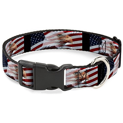 Buckle Down PC-W30107-WS An Eagle Flag Plastic Clip Collar, Wide ()