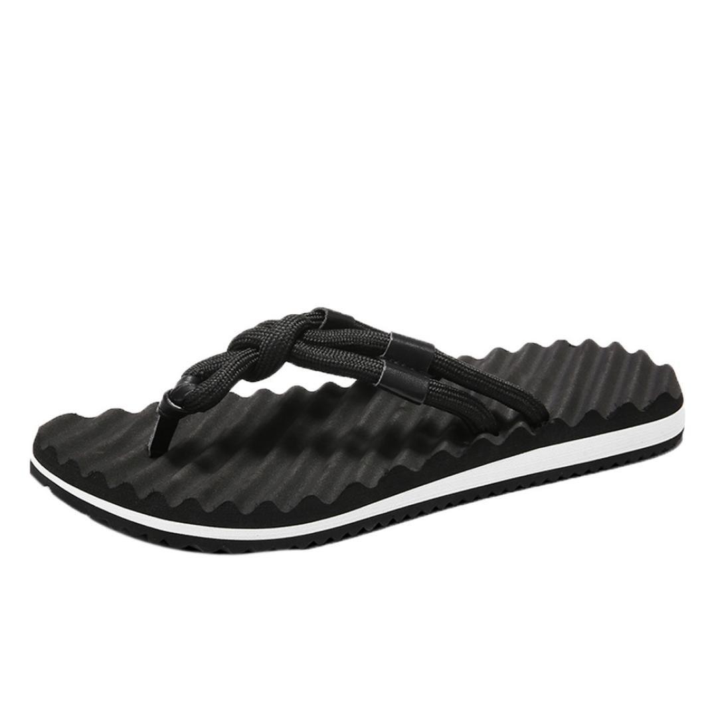 MEIbax CLEARANCE SALE Mauml;nner Sommer Strand Sandalen flache Schuhe Sandale Hombre Nauml;hen Schuhe Flip Flops Schuhe (Gelb, 40EU)  40EU|Gelb