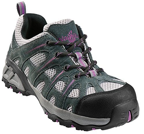 Nautilus 1754 Women's Comp Toe No Exposed Metal EH Athletic Shoe,Grey/Lavender,8.5 M US by Nautilus Safety Footwear