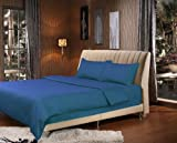 How Wide Is a Cal King Bed Tache Dark Blue Duvet Cover - 3 Piece Solid Navy Ocean Super Soft Duvet Cover Set, Cal King, Blue