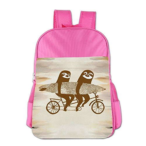 Clarissa Bertha Surfing Tandem Sloths Bicycle School Girls Boys Teens Backpacks Bags by Clarissa Bertha