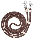 Tough 1 Royal King Braided Contest/Roping Reins, Brown