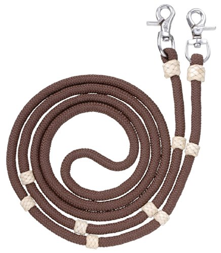 Tough 1 Royal King Braided Contest/Roping Reins, Brown ()