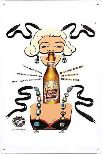 tin-sign-metal-poster-plate-8x12-of-nova-schin-beer-sao-paulo-fashion-week-1-by-food-beverage-decor-