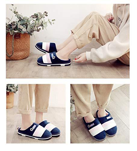 Calzado Zapatillas Cafe Unisex Calentado Polar Forro Casa Invierno Morado Algodon Interior Suave Rosado 45 Zapatos Rosa Slippers 34 Gris Pantuflas OCq74I