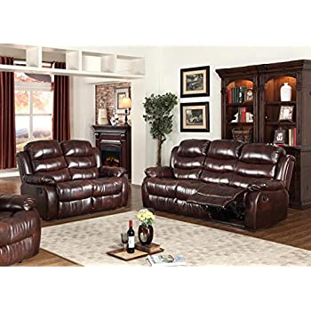 Amazon.com: 2 Set Sofa Loveseat Chaise Couch Recliner 2 Leather ...