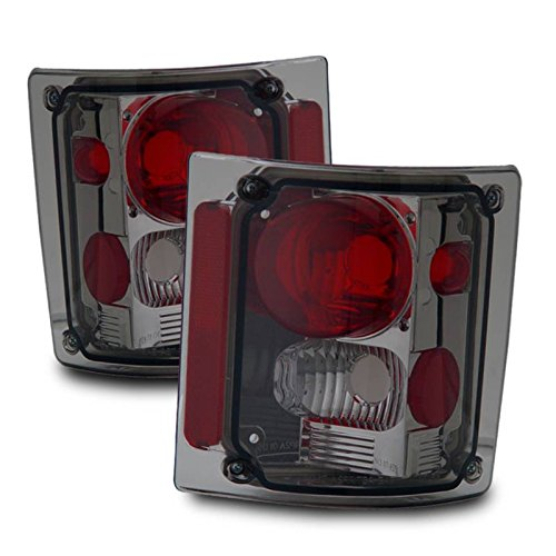 SPPC Smoke Euro Tail Lights Assembly Set for Chevrolet Full Size - (Pair) Driver Left and Passenger Right Side Replacement