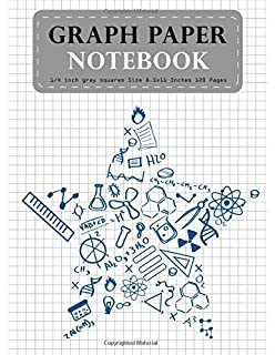 graph paper notebook 1 4 inch gray squares size 8 5x11 inches 120