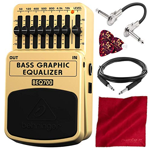 Behringer BEQ700 Ultimate 7-Band Bass Graphic Equalizer with Deluxe Accessory Bundle
