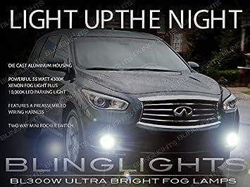 Cool Blue//White H8 Xenon Foglights Fits 2014 Infiniti QX70