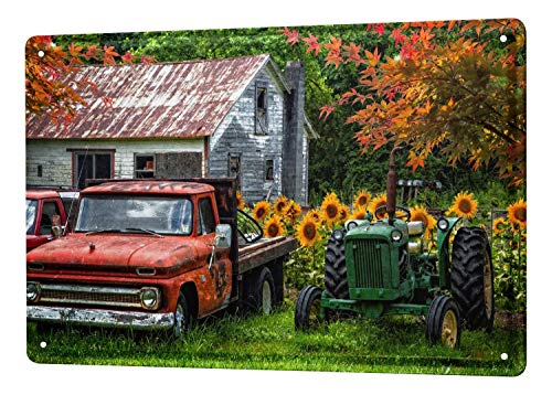 Destiny'S Retro Tin Sign Tractor Factory Old Farmhouse Classic Cars Metal Plate 8