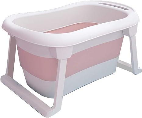 Amazon Com Gyh Folding Bathtub Baby Folding Bathtub Household Portable Free Standing Newborn Thickened Thermal Insulation Plastic Bath Barrel Color Pink Home Kitchen